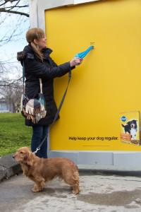 Marquesina con bolsas para perros