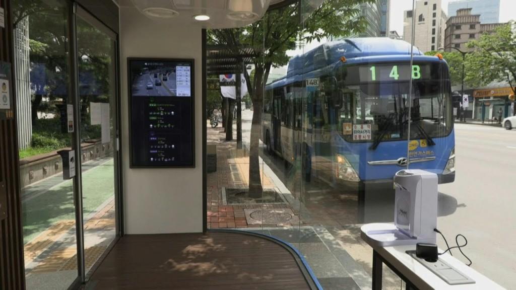 marquesinas de autobús corea del sur